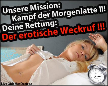 Sex Chat gegen die Morgenlatte